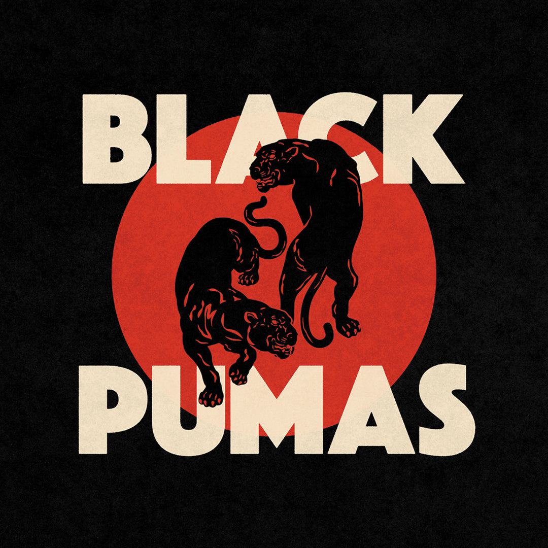 Black Pumas - Black Pumas LRS Limited Edition Cream/Red/Black Colour Vinyl Record Album