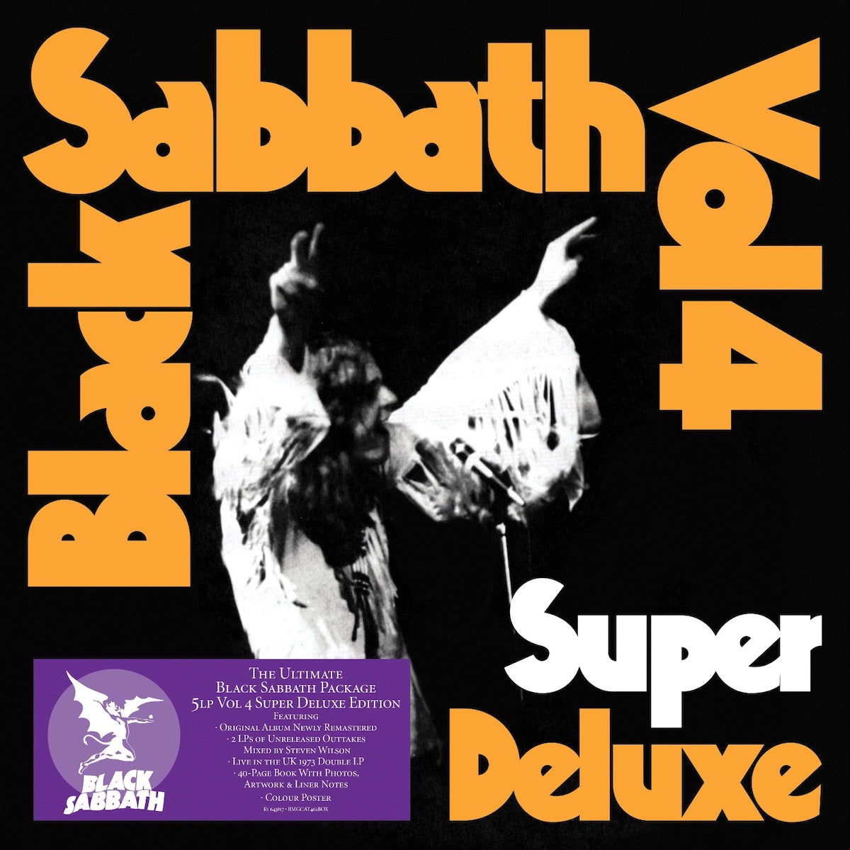 Black Sabbath - Vol. 4 Super Deluxe 5LP Vinyl Record Box Set