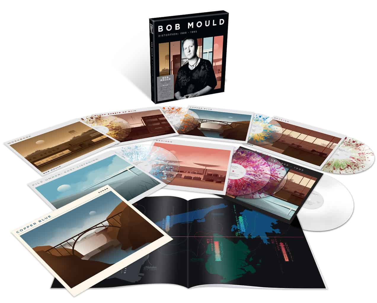 Bob Mould – Distortion: 1996-2007 9LP 140g Clear Splatter Vinyl Box Set + Signed Print