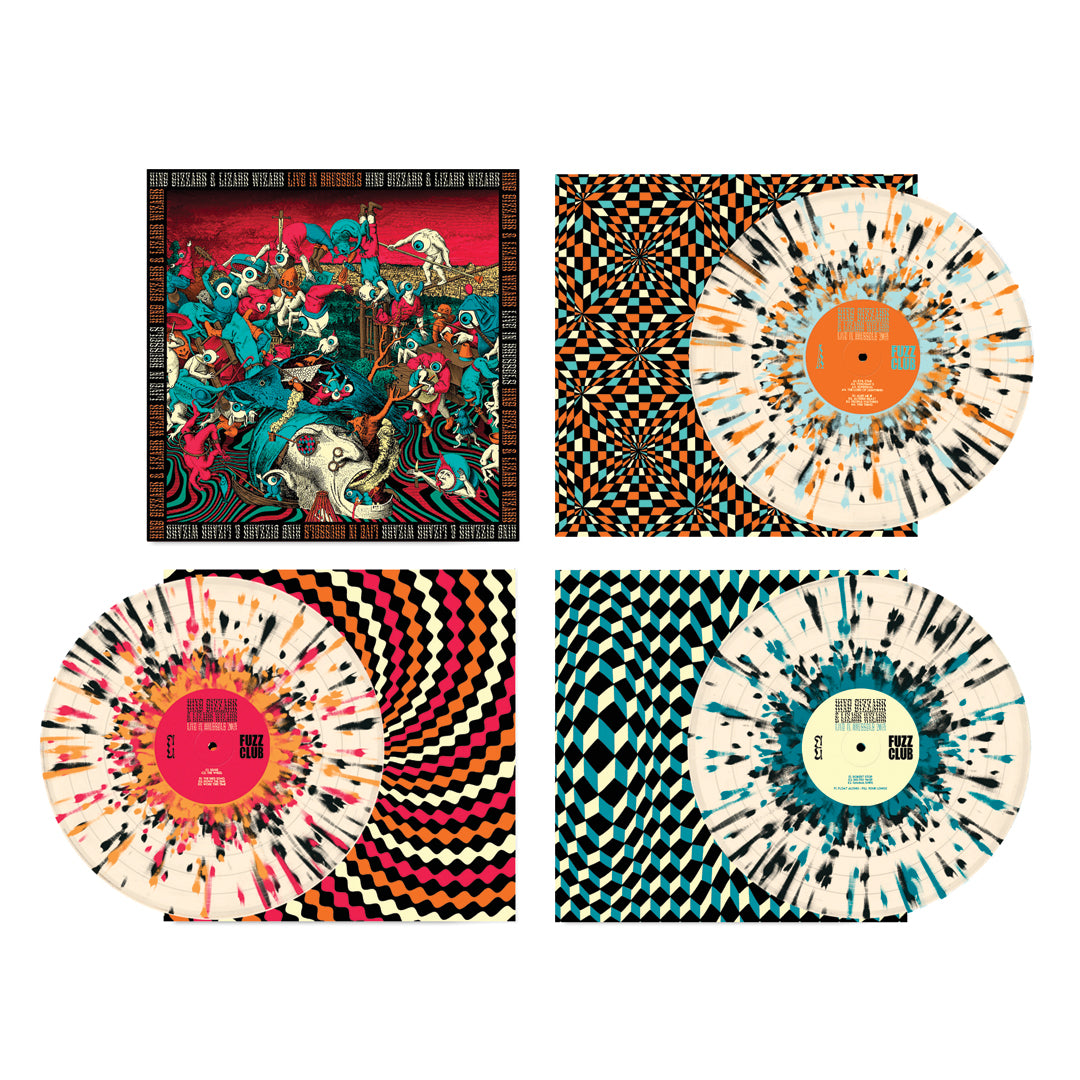 King Gizzard & The Lizard Wizard Live In Brussels '19 3LP Splatter Colour Vinyl Record Box Set