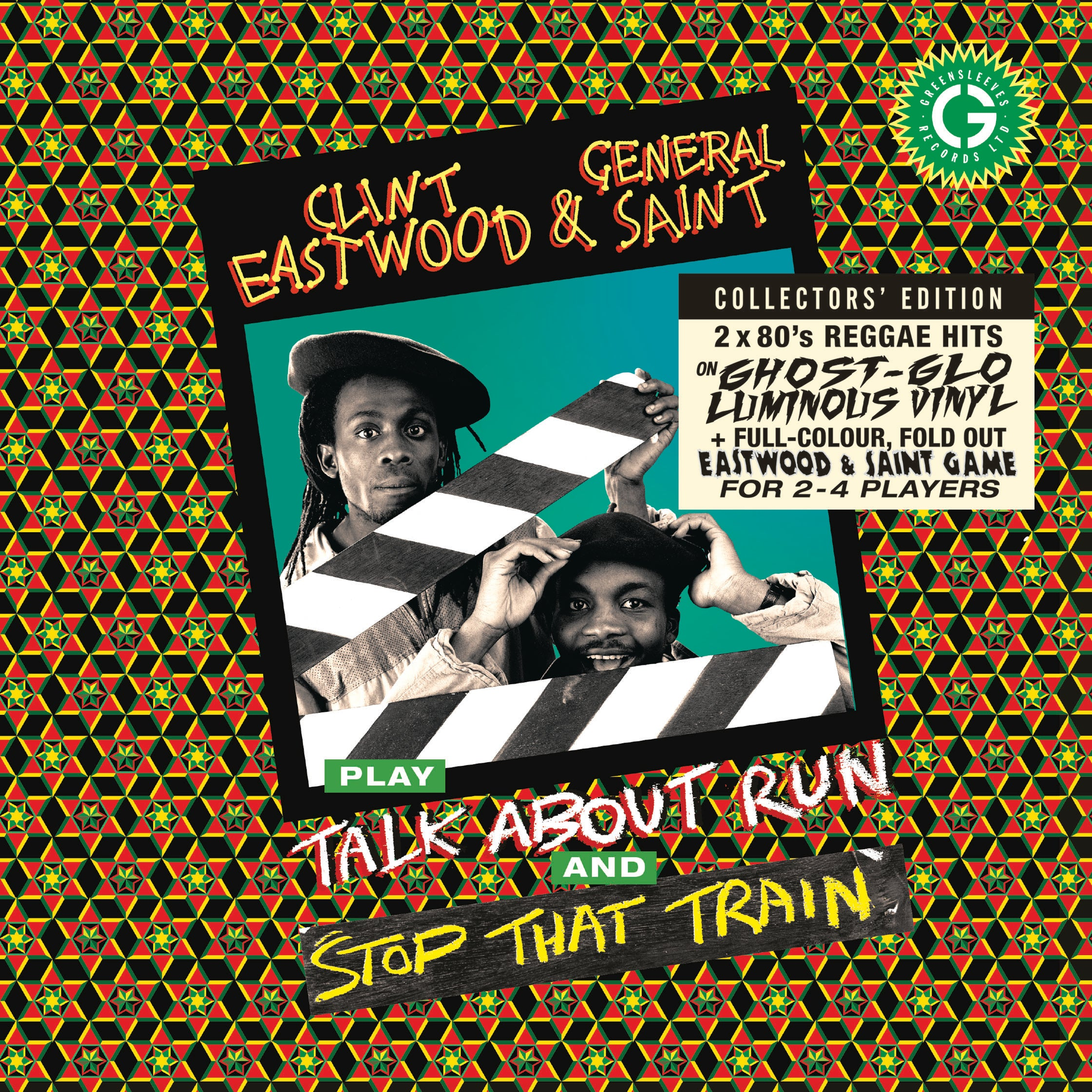 "Clint Eastwood & General Saint - Stop That Train / Stop That Train b/w Talk About Run (RSD 2020 Drop Two) 7"" Glow in the dark Vinyl Record"