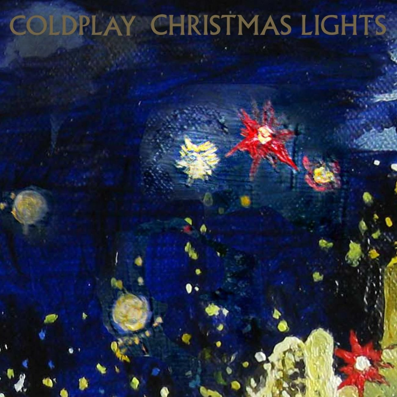 "Coldplay - Christmas Lights Limited Edition Blue Colour 7"" Vinyl Record"