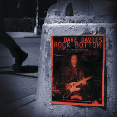 Dave Davies - Rock Bottom: Live at the Bottom Line (RSD 2020 Drop One) 20th Anniversary Red & Silver Colour 2LP Vinyl Record Album