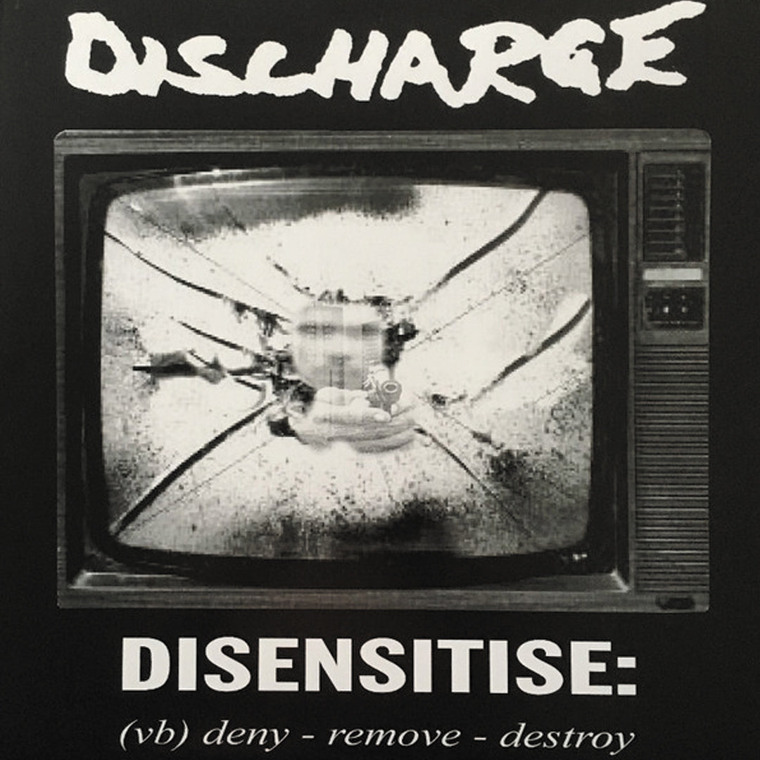 Discharge ‎– Disensitise Limited Edition White Colour Vinyl Record Album