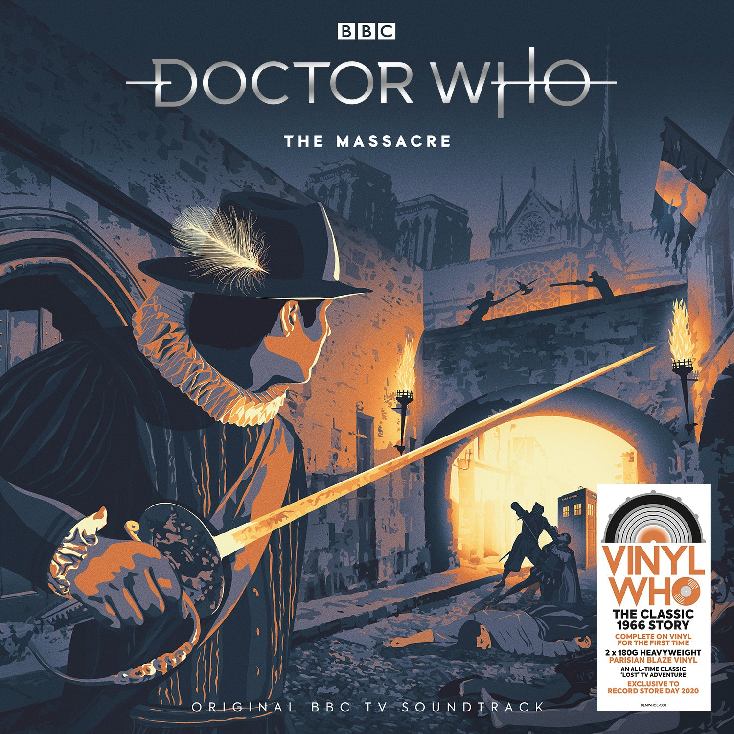 Doctor Who - Doctor Who - The Massacre (RSD 2020 Drop One)  2LP 180g 'Parisian Blaze' Colour Vinyl Record Album