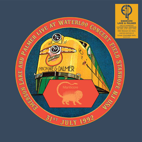 Emerson Lake and Palmer - Live at Waterloo Concert Field 1992 (RSD 2020 Drop One) Flame Colour Vinyl Record Album