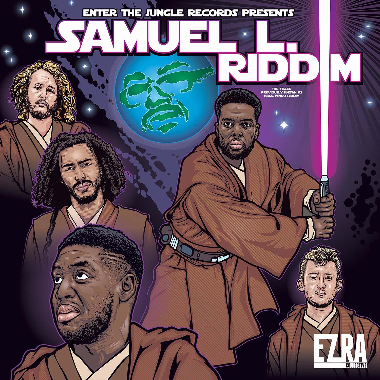"Ezra Collective - Samuel L.Riddim / Dark Side Riddim (RSD 2020 Drop One) Purple Splatter Colour 12"" Vinyl Record"