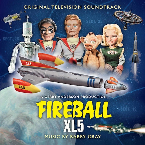 Fireball XL5 - Original TV Soundtrack Limited Edition 2LP Colour Vinyl Record Album