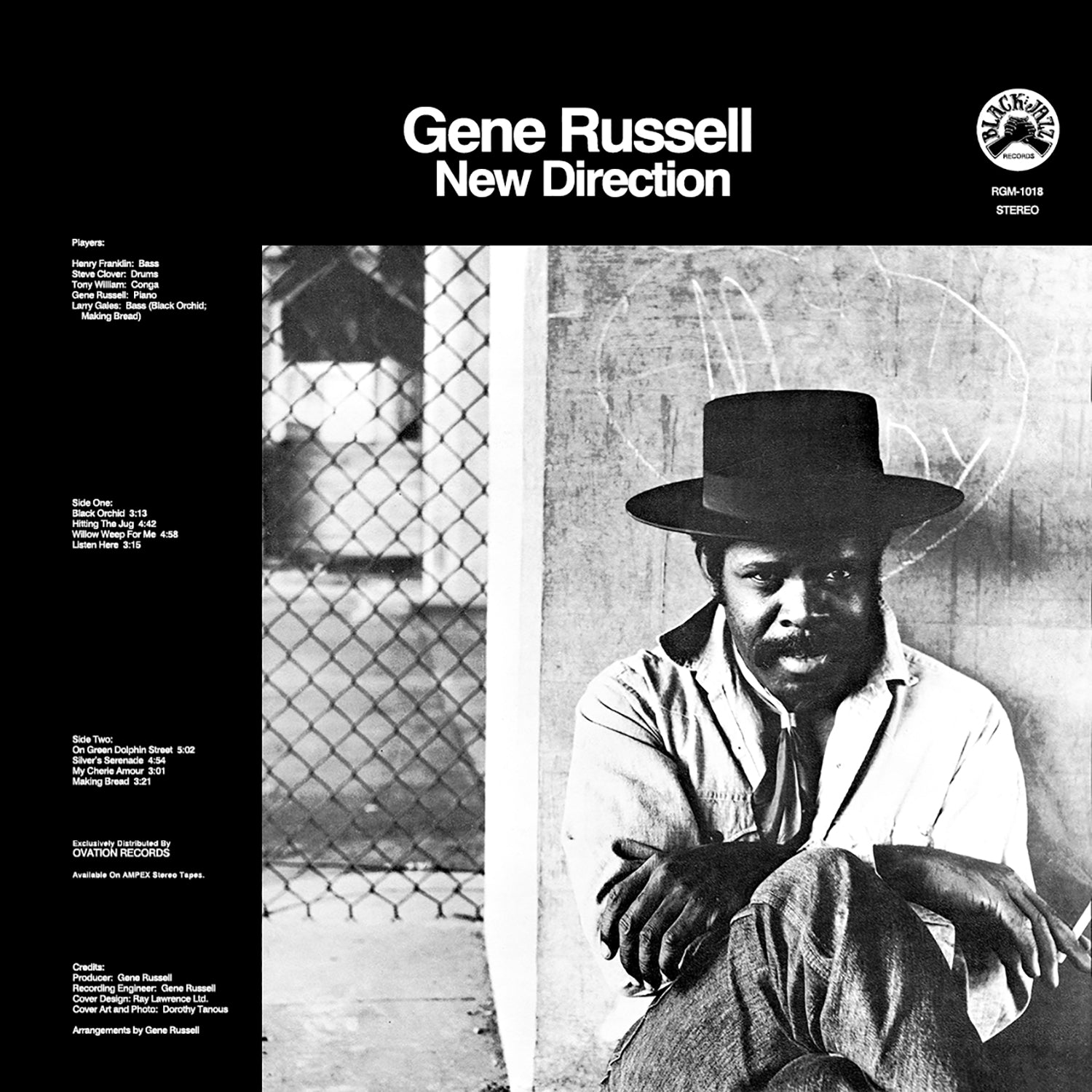 Gene Russell - New Direction (RSD 2020 Drop One) Transparent Clear Black Swirl Colour Vinyl Record Album