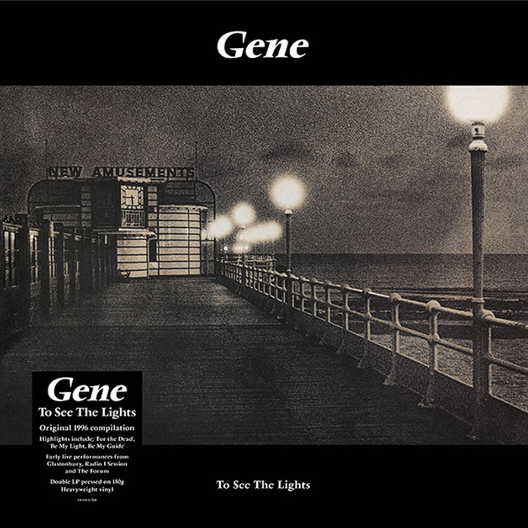 Gene - To See The Lights Limited Edition 2LP 180g Clear Colour Vinyl Record Album