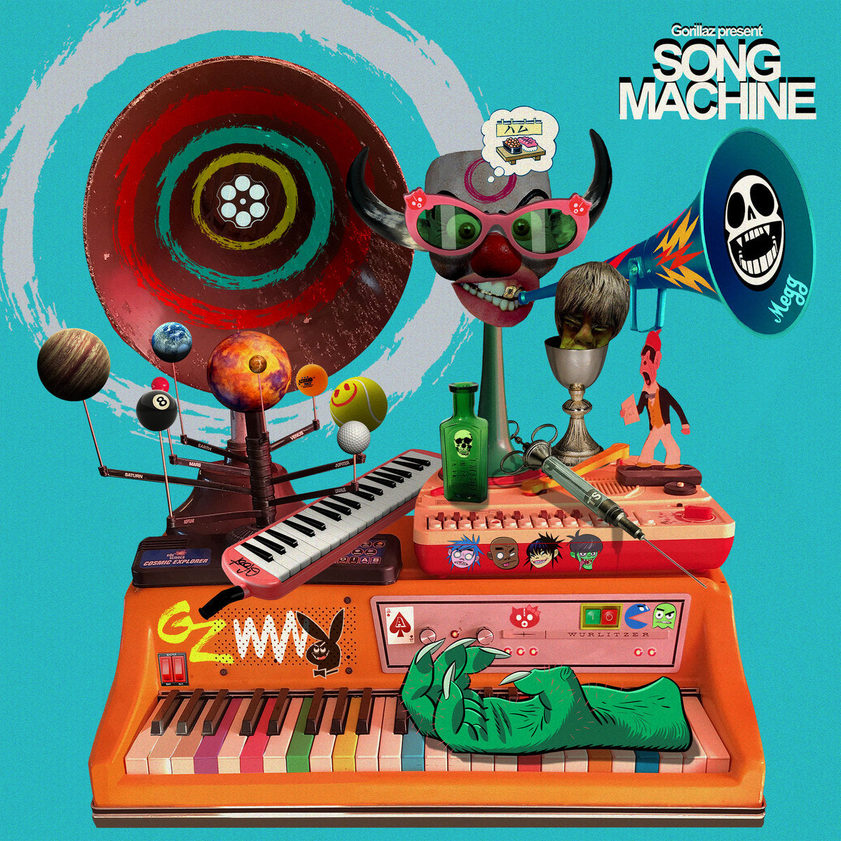 Gorillaz - Song Machine: Season One Strange Timez Neon Orange Colour Vinyl Record