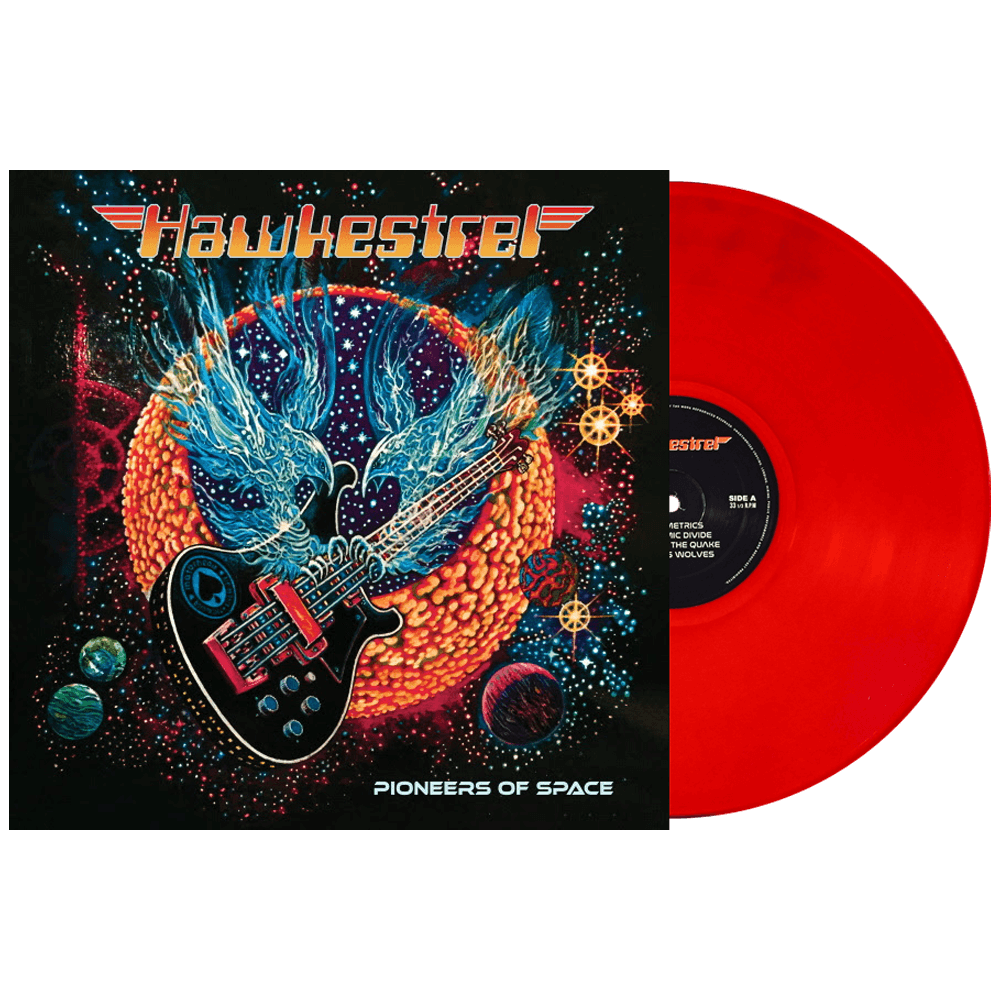Hawkestrel - Pioneers of Space Limited Edition Red Colour Vinyl Record Album