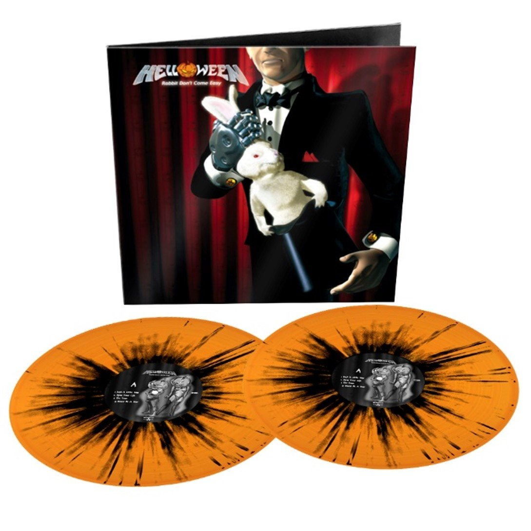 Helloween - Rabbit Don't Come Easy Orange/Black Splatter Colour Vinyl Record Album