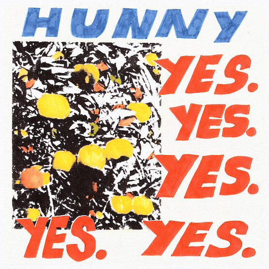 Hunny - Yes. Yes. Yes. Yes. Yes. (RSD 2020 Drop Two) Translucent Blue Colour Vinyl Record