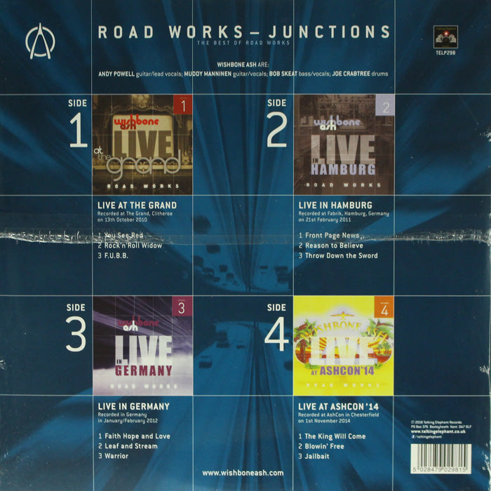 Wishbone Ash – Road Works Junctions The Best Of Road Works 2LP Vinyl Record