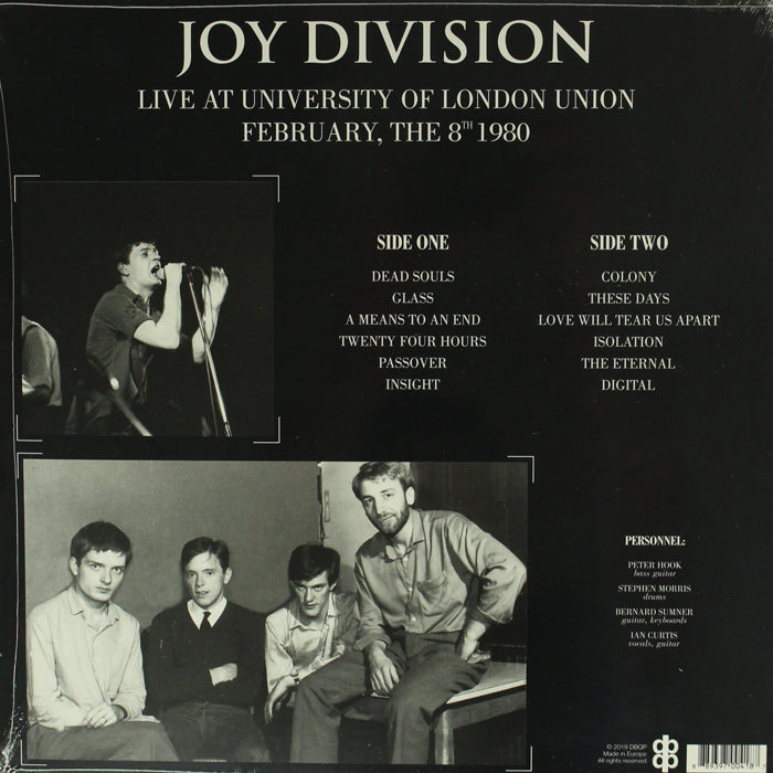 Joy Division - Live At University Of London Union February 8th 1980 Vinyl Record, Vinyl, X-Records