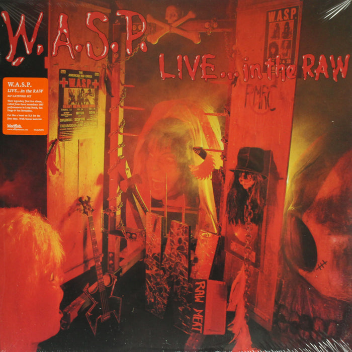 W.A.S.P. ‎– Live... In The Raw 2LP Vinyl Record Album, Vinyl, X-Records