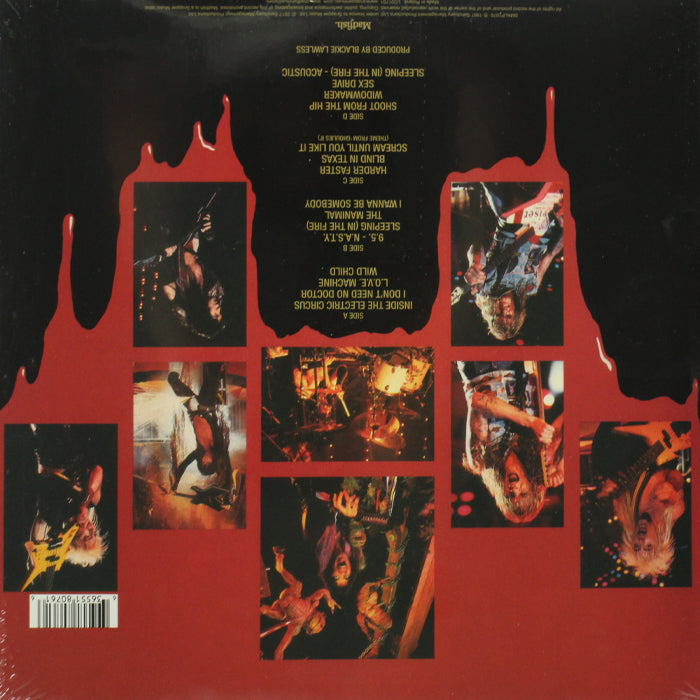 W.A.S.P. ‎– Live... In The Raw 2LP Vinyl Record Album