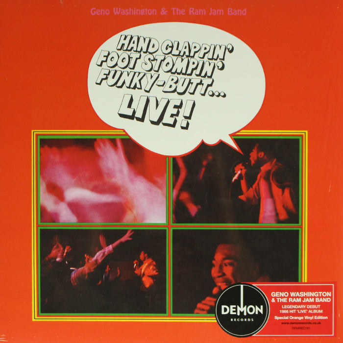 Geno Washington & The Ram Jam Band ‎– Hand Clappin' Foot Stompin' Funky-Butt... Live! Vinyl Record Album, Vinyl, X-Records
