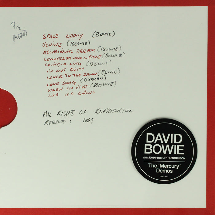 David Bowie ‎– Mercury Demos Vinyl Record Album 1LP Boxset, Vinyl, X-Records