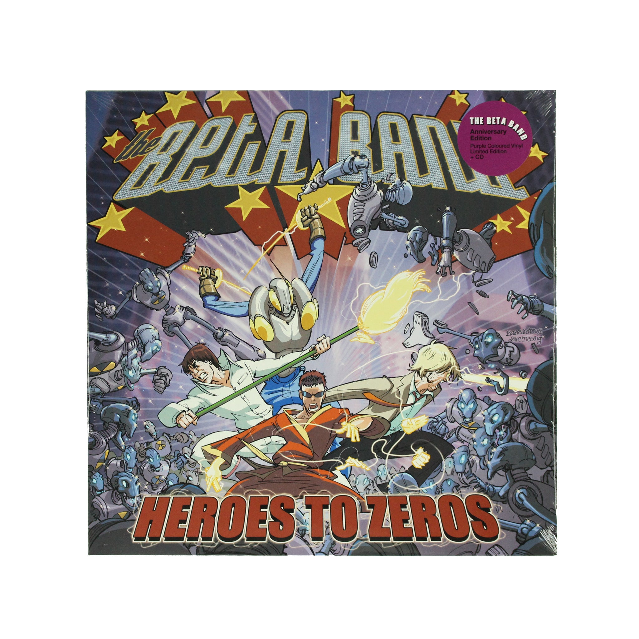 "The Beta Band ‎– Heroes To Zeros Purple Colour 12"" Vinyl Record Album"