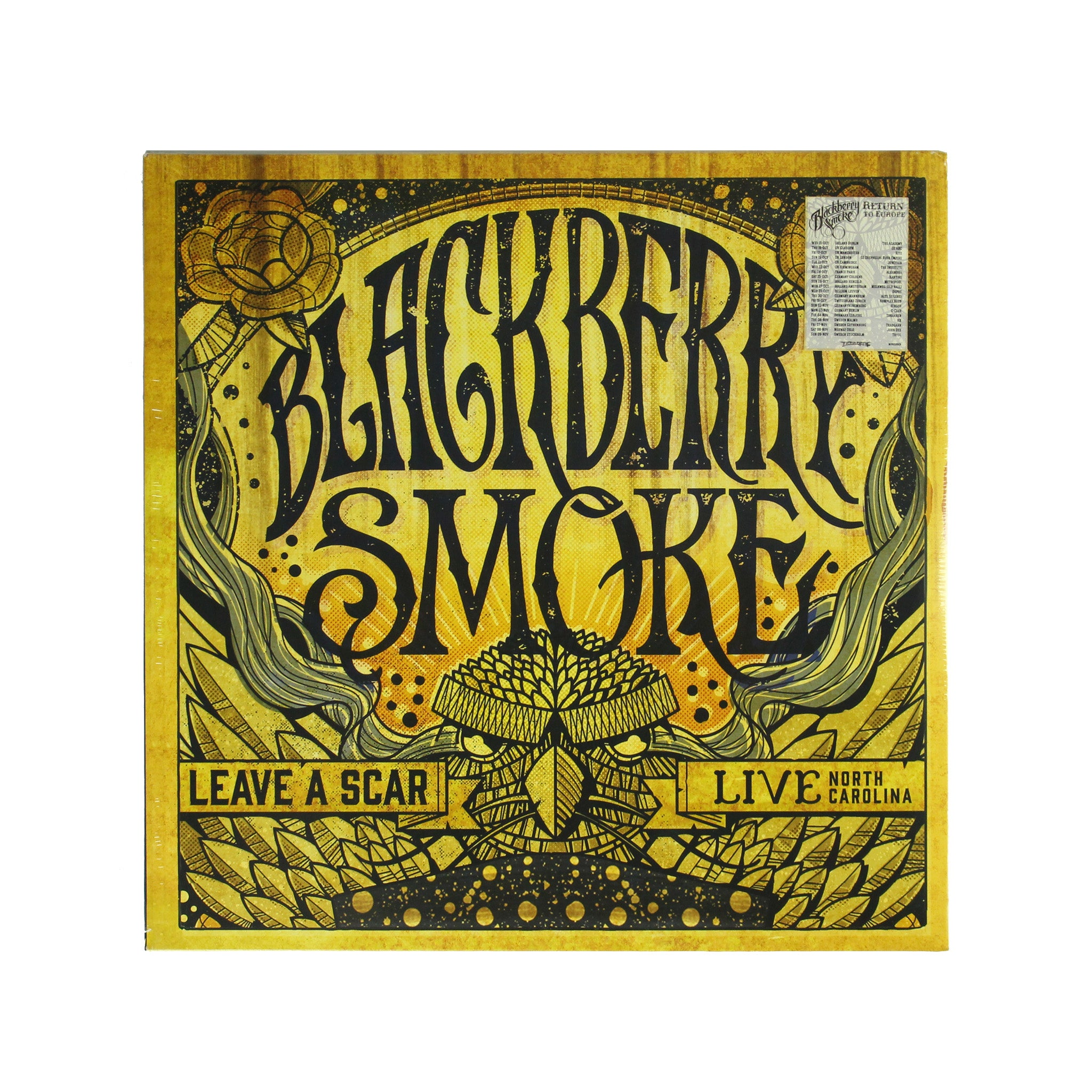 "Blackberry Smoke ‎– Leave A Scar Live Red Colour 12"" Vinyl Record"