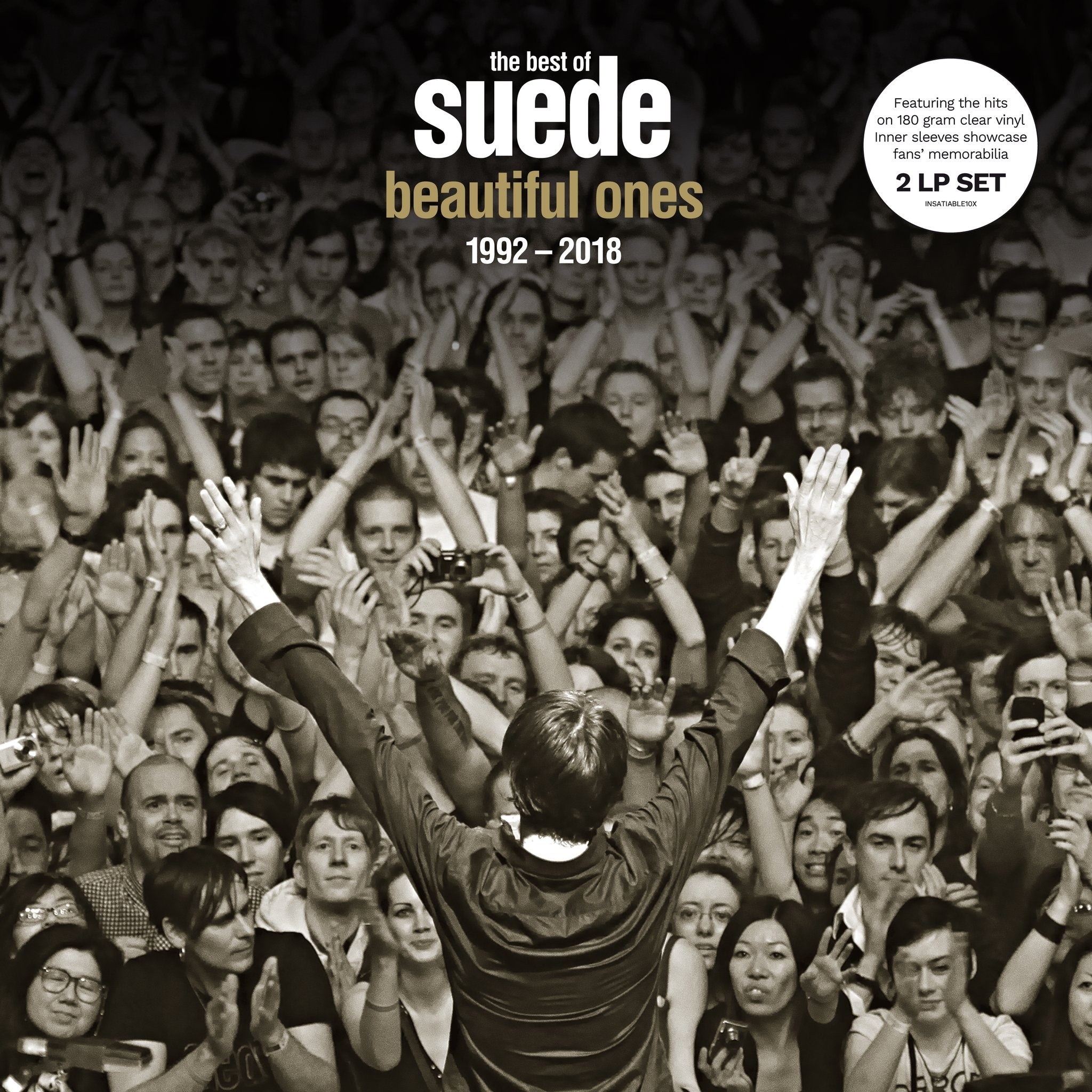 Suede - Beautiful Ones 1992-2018 2LP 180g Clear Colour Vinyl Record Album