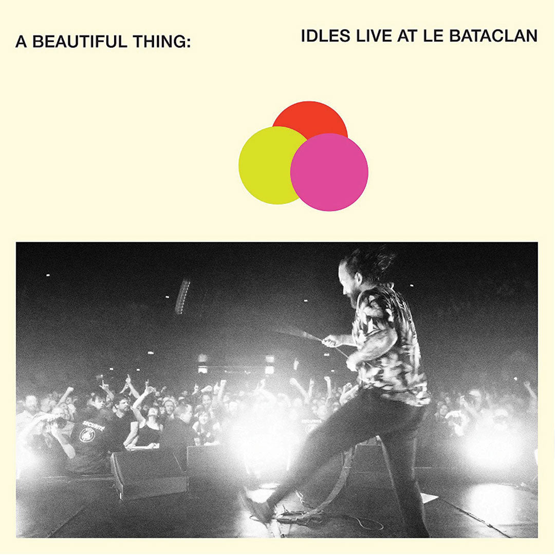 IDLES -A Beautiful Thing: Live At Le Bataclan Neon Clear Orange Colour Vinyl Record + Booklet
