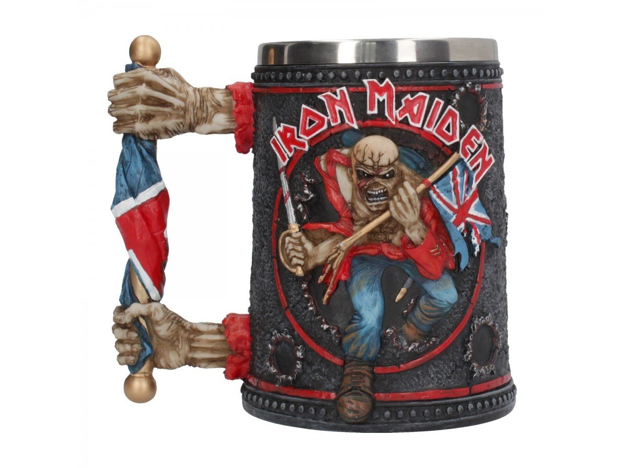 Iron Maiden Eddie Official Licensed Handpainted Tankard Mug, Merch, X-Records