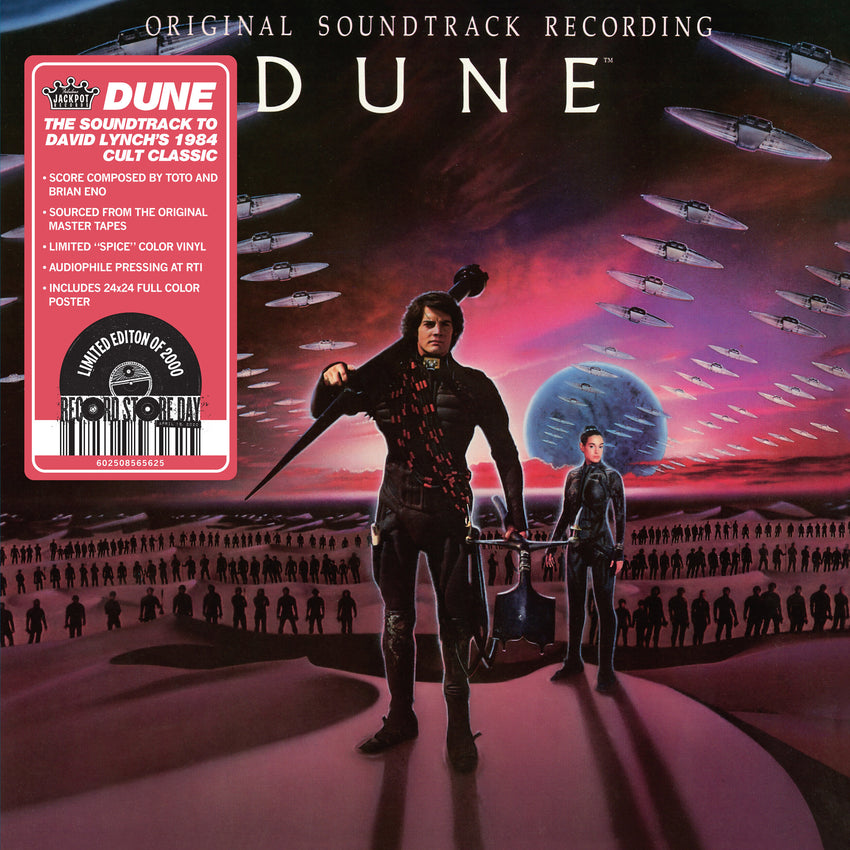 DUNE - Original Motion Picture Soundtrack (1984) (RSD 2020 Drop One) Orange Colour Vinyl Record Album