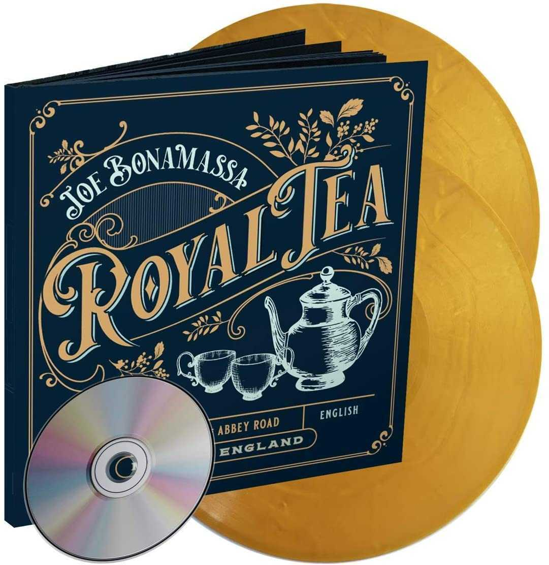 Joe Bonamassa - Royal Tea 2LP Gold Colour Vinyl Record CD Box Set Earbook