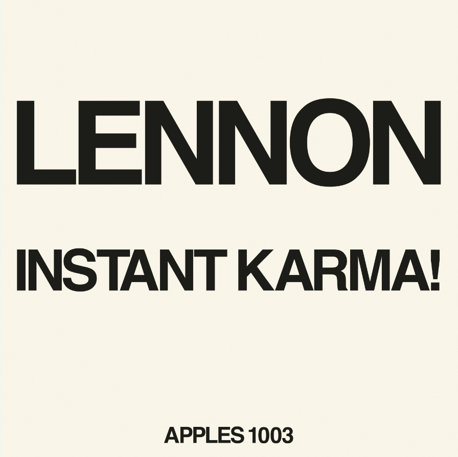 "John Lennon - Instant Karma! (2020 Ultimate Mixes) (RSD 2020 Drop One) 7"" Vinyl Record"