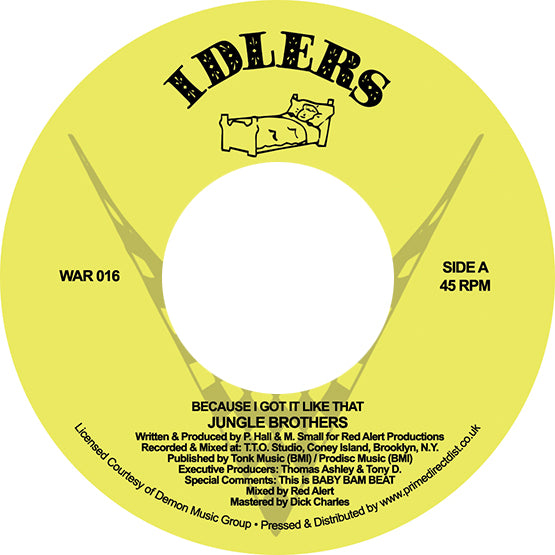"Jungle Brothers - Because I Got it Like That / I'll House You (RSD 2020 Drop One) 7"" Vinyl Record"