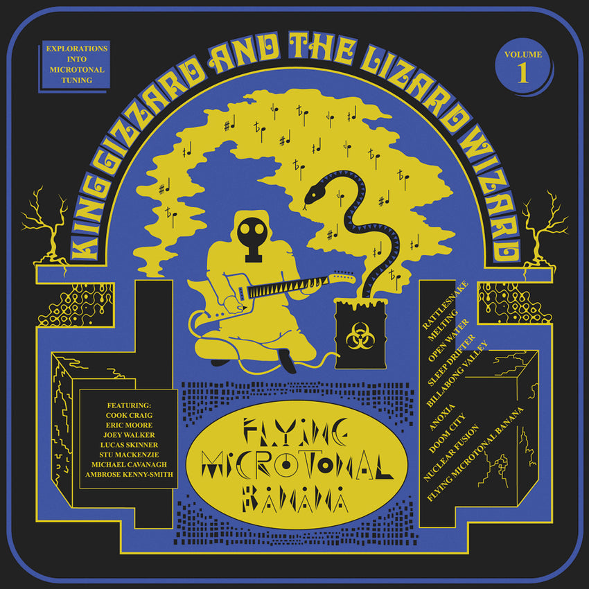 King Gizzard & The Lizard Wizard - Flying Microtonal Banana LRS Limited Edition Ecomix Colour Vinyl Record Album