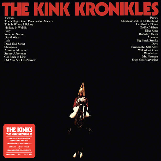 The Kinks - The Kink Kronikles (RSD 2020 Drop One) 2LP Red Colour Vinyl Record Album