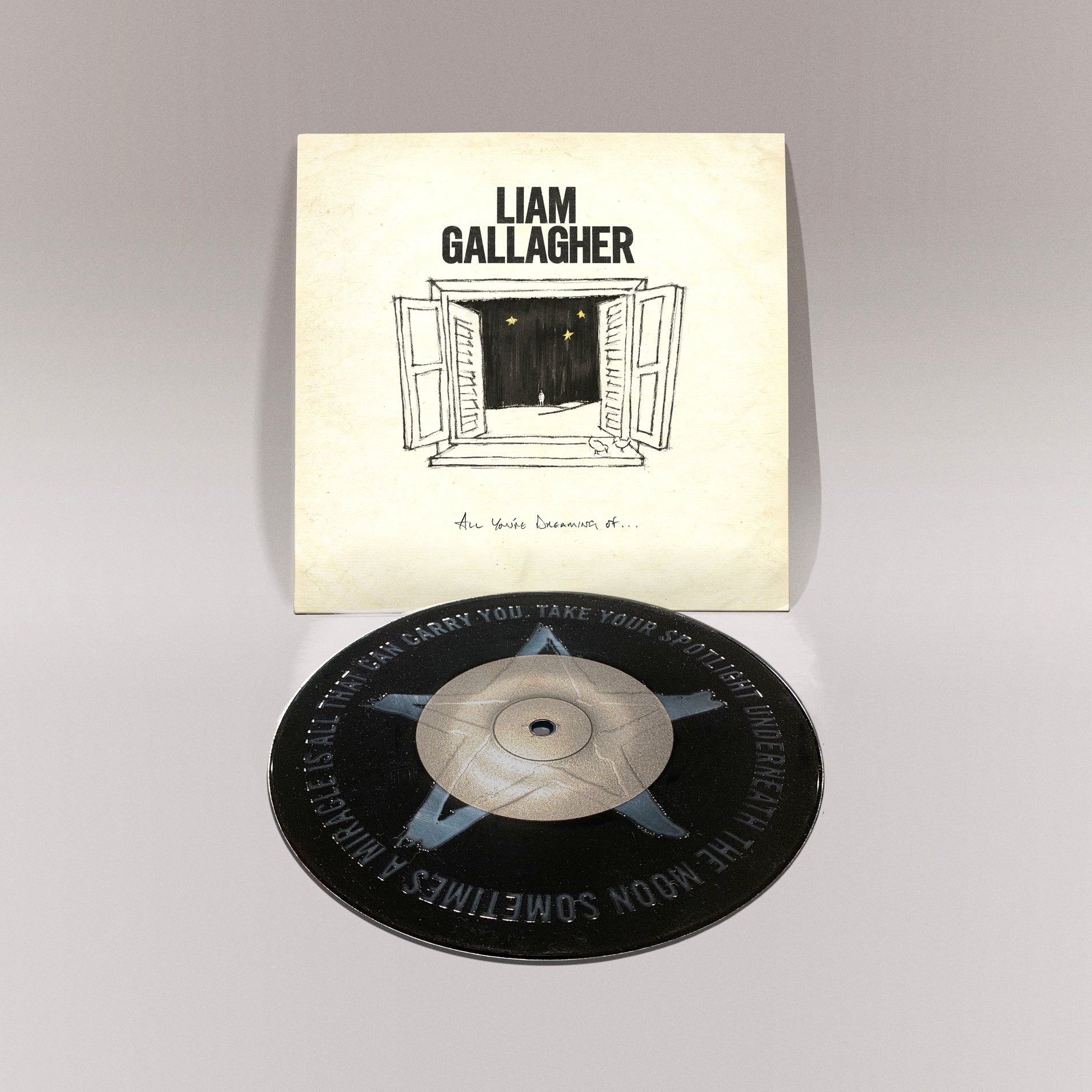"Liam Gallagher - All You're Dreaming Of Limited Edition 7"" Vinyl Record Etched"