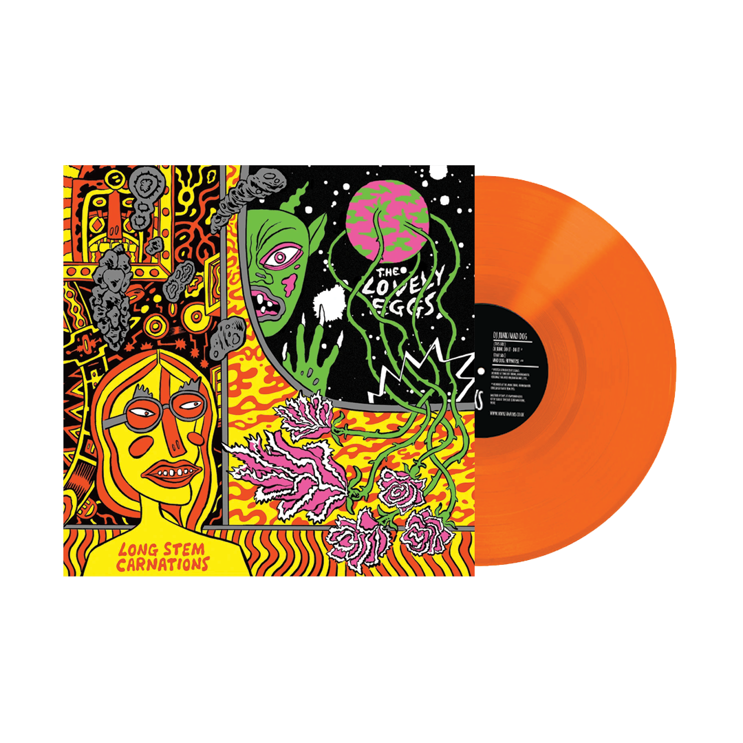"The Lovely Eggs - Long Stem Carnations Limited Edition Orange Colour 7"" Vinyl Record Single"