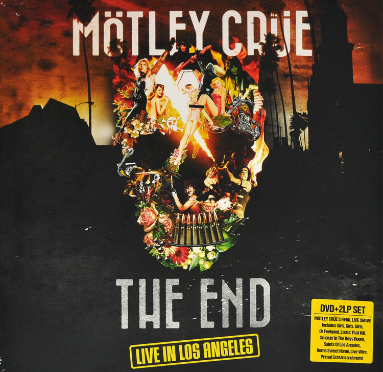 Motley Crue - The End 2LP Colour Vinyl Record Album + DVD