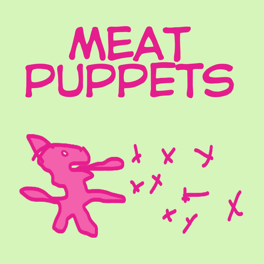 "The Meat Puppets - Meat Puppets (RSD 2020 Drop Two) Pink/Green 10"" Colour Vinyl Record"