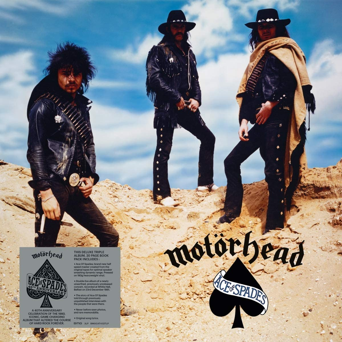 Motörhead - Ace of Spades (40th Anniversary) 3LP 180g Vinyl Record Album + Book