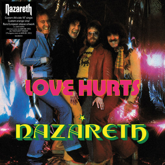 "Nazareth - Love Hurts / This Flight Tonight (RSD 2020 Drop One) 10"" Orange Colour Vinyl Record"