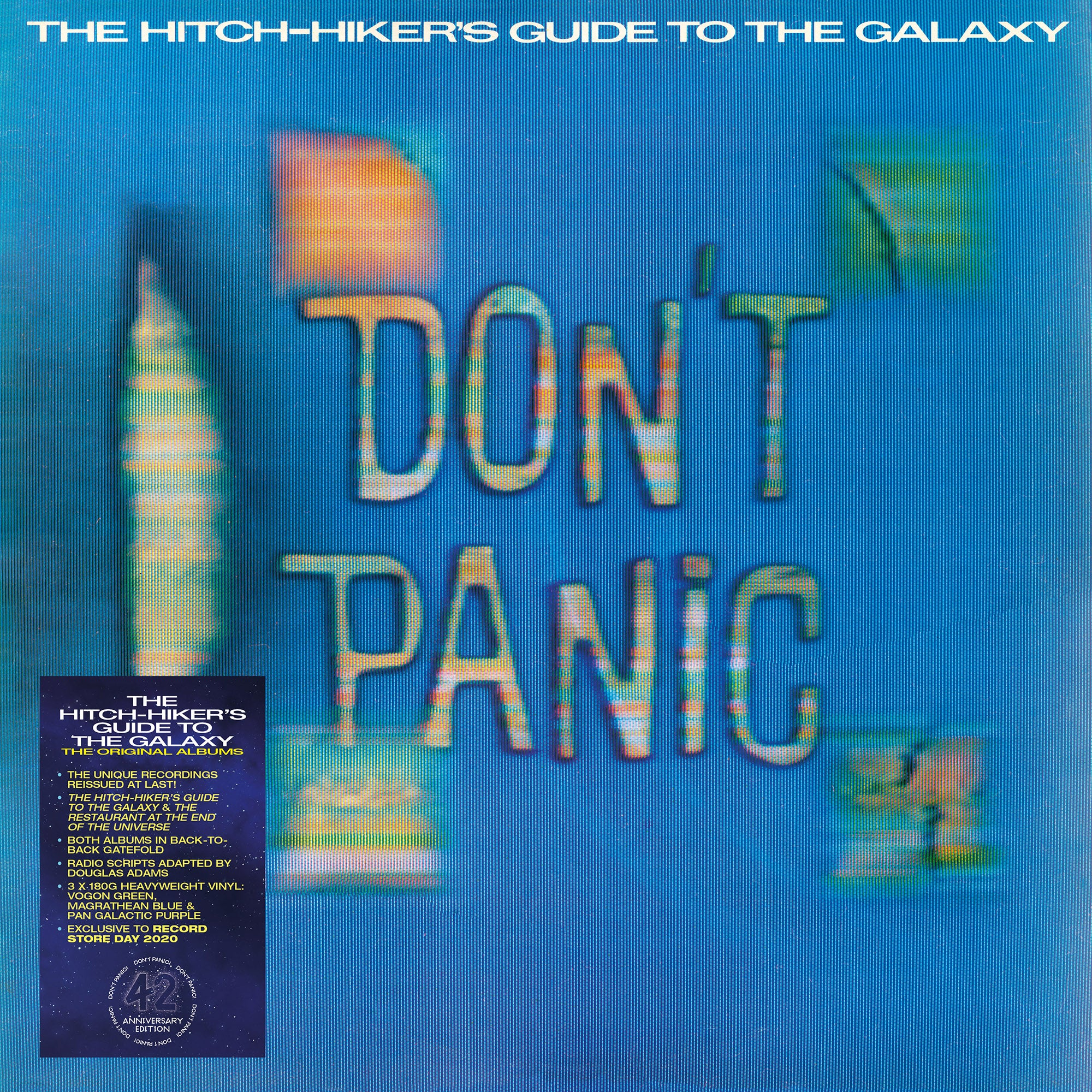 Hitchhikers Guide To the Galaxy - The Original Albums (RSD 2020 Drop One) 3LP 180g Colour Vinyl Record Album