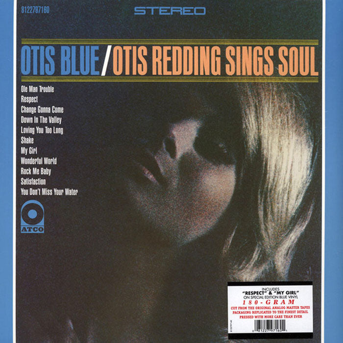 Otis Redding ‎– Otis Blue 180g Blue Colour Vinyl Record Album