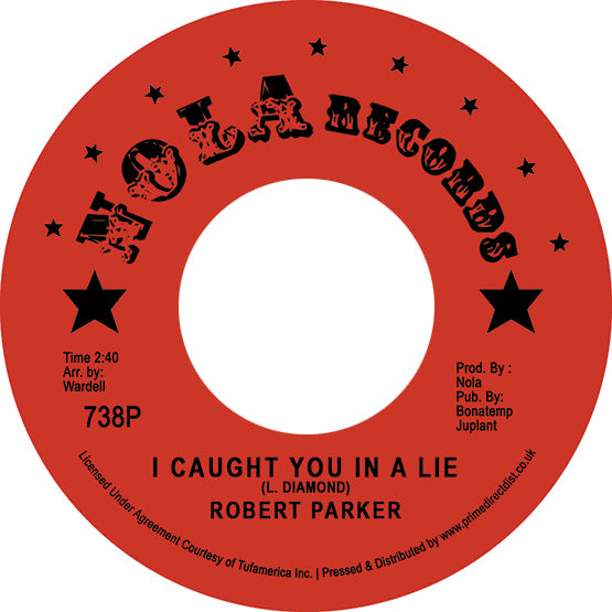 "Robert Parker - I Caught You In A Lie (RSD 2020 Drop One) 7"" Vinyl Record"