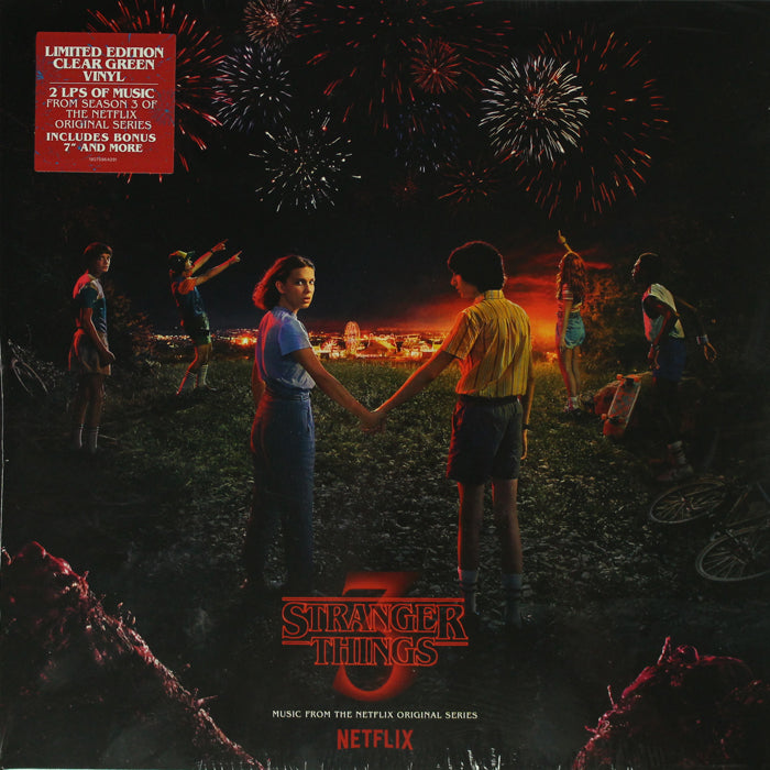 "Stranger Things 3 - (Netflix Original Series) 2LP + 7"" Coke Bottle Clear Vinyl Record, Vinyl, X-Records"