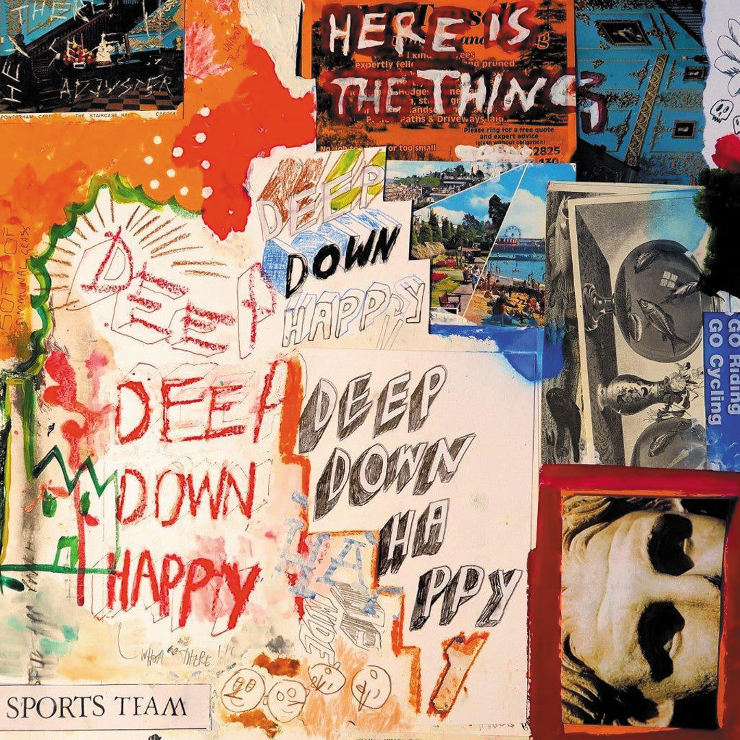 Sports Team - Deep Down Happy Limited Edition Orange Colour Vinyl Record