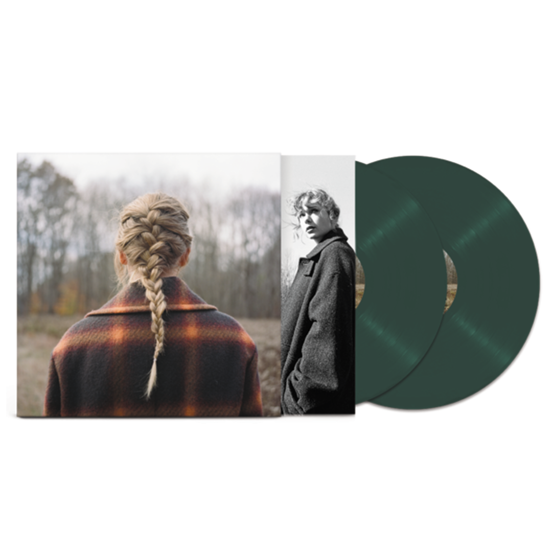 Taylor Swift - Evermore Limited Edition 2LP Green Colour Vinyl Record Album