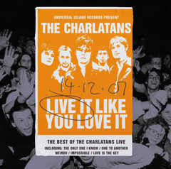 The Charlatans - Live It Like You Love It (RSD 2020 Drop One) 2LP Transparent Orange Colour Vinyl Record Album