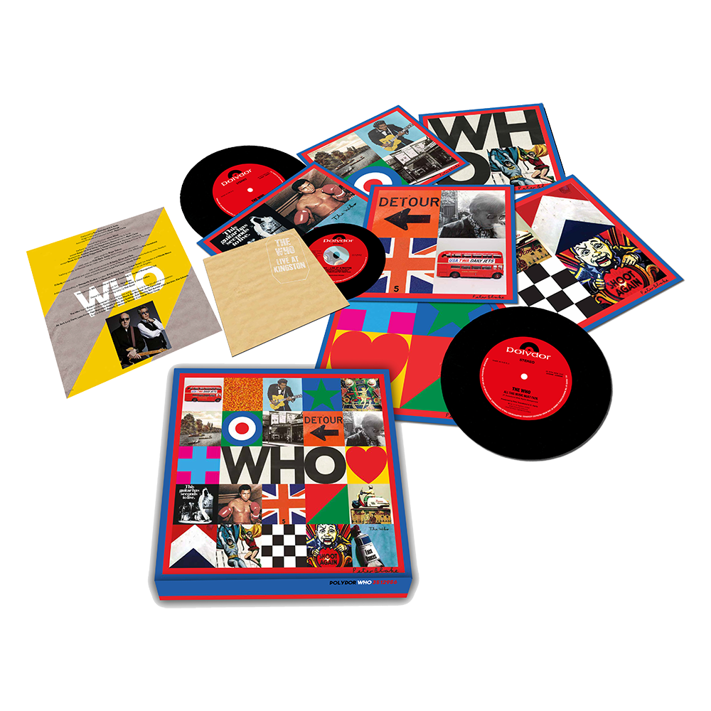 "The Who - WHO Limited Edition 6x7"" Vinyl Record Box Set + Live At Kingston CD"