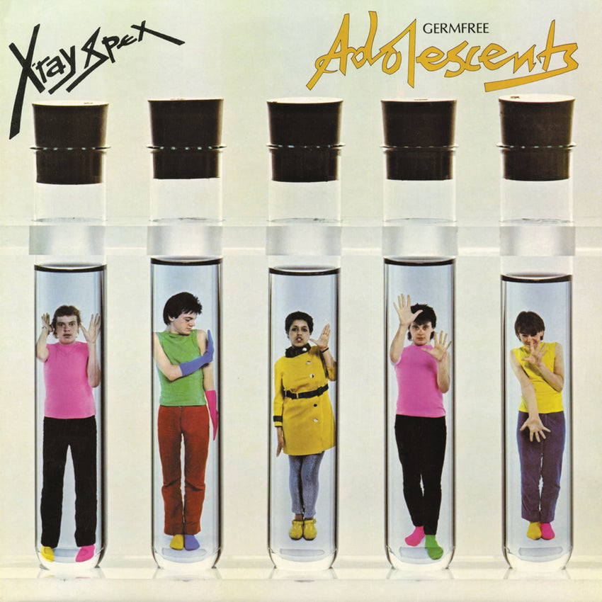 X-Ray Spex ‎– Germfree Adolescents Clear Colour Vinyl Record